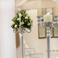 candleabra with flower display